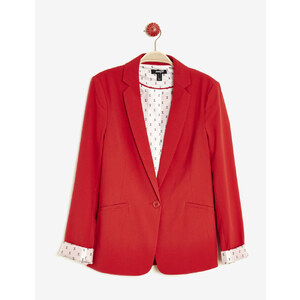 blazer manches roll-up rouge Jennyfer
