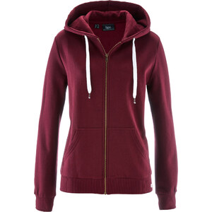 bpc bonprix collection Gilet sweat-shirt rouge manches longues femme - bonprix