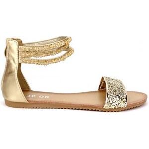 Sandale dorée TOP OR Mode - Cendriyon