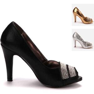 Lesara Escarpins peep toes avec strass