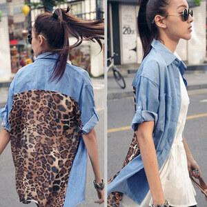 Lesara Blouse avec motif léopard au dos