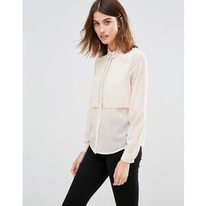 Vero Moda - Chemise à manches longues double épaisseur - Blanc