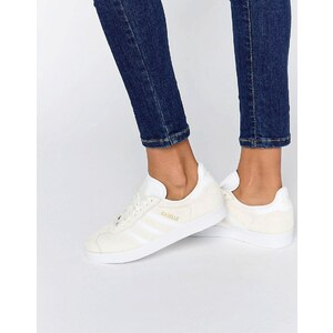 adidas Originals - Gazelle - Baskets en daim - Blanc cassé - Blanc