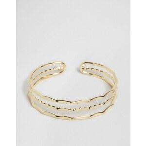 ASOS Bracelet motif barres variées en édition limitée - Doré