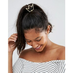 Missguided - Haargummi mit Kronendesign - Gold