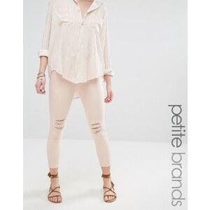 Vero Moda Petite - Jean skinny longueur cheville - Crème