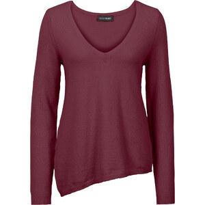 BODYFLIRT Pullover mit asymmetrischen Saum langarm in rot für Damen von bonprix