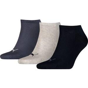 Puma Lot de 3 paires de socquettes - bleu marine
