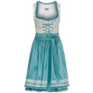 """Distler Damen Baumwoll-Dirndl \""""BERIT\"""", 60 cm Rocklänge 60 cm blau aus Baumwolle"""