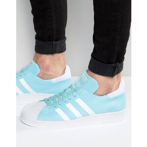 adidas Originals - Superstar 80's Primeknit S74964 - Baskets - Bleu