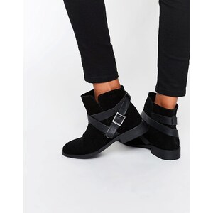 ASOS - ALEX - Bottines souples en daim - Noir