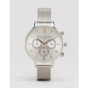 Olivia Burton - Chronograph-Armbanduhr in Silber- und Roségoldoptik - Silber