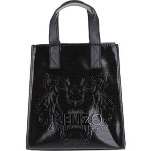 Kenzo Sacs portés main, Metallic PVC Tiger Tote Black en noir