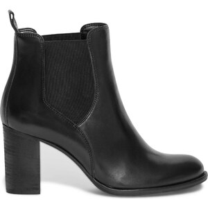Eram Chelsea boots talon cuir noir