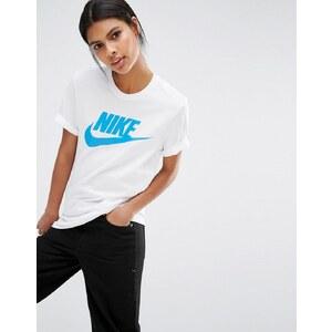 Nike - Futura Icon - T-shirt coupe masculine à logo - Blanc
