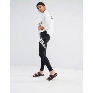 Nike - Leg A See - Leggings à logo virgule - Noir