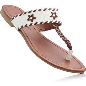 John Baner JEANSWEAR Mules entredoigt blanc chaussures & accessoires - bonprix