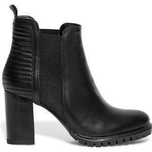 Eram Boots talon cranté cuir noir