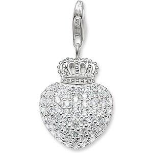 Thomas Sabo pendentif cœur et couronne blanc T0035-051-14