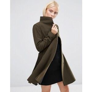 ASOS - Manteau coupe patineuse à col cheminée - Vert