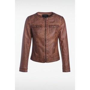 Veste femme similicuir vintage Marron Polyester - Femme Taille L - Bonobo