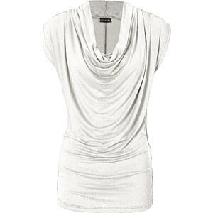 BODYFLIRT Longshirt ohne Ärmel figurbetont in beige (Wasserfall-Ausschnitt) für Damen von bonprix