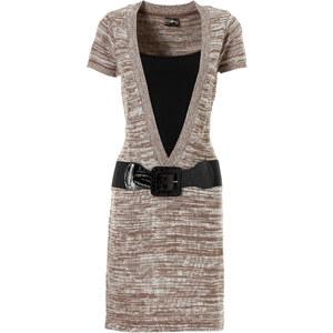 RAINBOW Strickkleid/Sommerkleid kurzer Arm in grau von bonprix