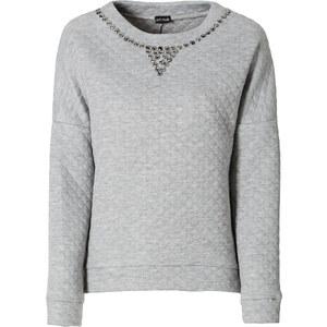 BODYFLIRT Sweatshirt langarm in grau (Rundhals) für Damen von bonprix