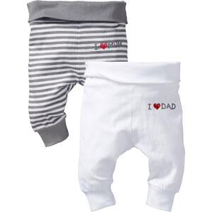 bpc bonprix collection Hose (2er-Pack) Bio-Baumwolle in weiß für Babys von bonprix