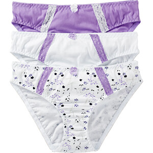 bpc bonprix collection Slip (3er-Pack) in weiß für Damen von bonprix