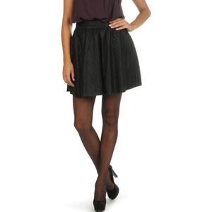 Vero Moda Janice Short PU Skirt black