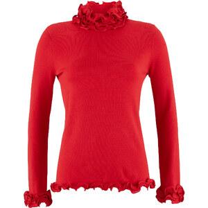 Pullover in rot für Damen von bonprix