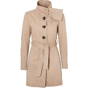 BODYFLIRT Mantel langarm figurbetont in braun für Damen von bonprix