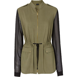 BODYFLIRT Jacke figurbetont in grün für Damen von bonprix