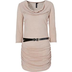 RAINBOW Longshirt in Strickoptik 3/4 Arm in beige für Damen von bonprix
