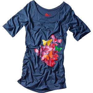 RAINBOW Shirt halber Arm figurbetont in blau (Carmen-Ausschnitt) für Damen von bonprix