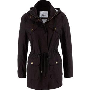 bpc bonprix collection Jacke mit Kapuze langarm in schwarz für Damen von bonprix