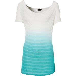BODYFLIRT Shirt kurzer Arm in weiß (Wasserfall-Ausschnitt) für Damen von bonprix