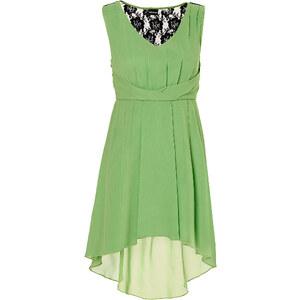 BODYFLIRT Kleid ohne Ärmel figurbetont in grün (V-Ausschnitt) von bonprix