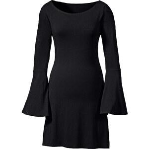 BODYFLIRT Longshirt langarm figurbetont in schwarz (Rundhals) für Damen von bonprix