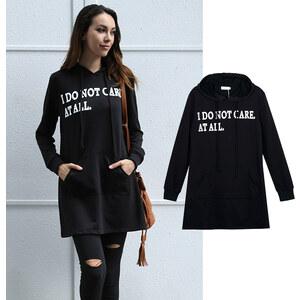 Lesara Sweatshirt long I Do Not Care At All