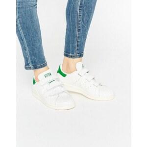 adidas Originals - Stan Smith - Baskets à bandes Velcro aspect serpent - Blanc - Blanc