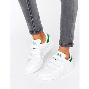 adidas Originals - Stan Smith - Baskets avec velcro - Blanc et vert - Blanc