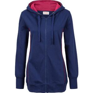 John Baner JEANSWEAR Gilet sweatshirt bleu manches longues femme - bonprix