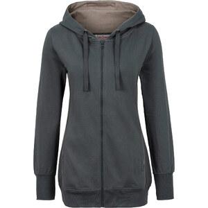 John Baner JEANSWEAR Gilet sweatshirt gris manches longues femme - bonprix