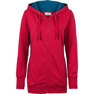 John Baner JEANSWEAR Gilet sweatshirt rouge manches longues femme - bonprix