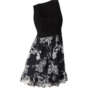 BODYFLIRT Shirtkleid ohne Ärmel figurumspielend in schwarz (Carré-Ausschnitt) von bonprix