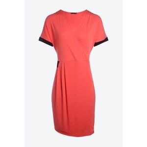 Robe effet croisé bicolore Orange Elasthanne - Femme Taille 40 - Bréal