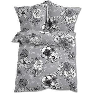 bpc living Parure de lit Fleurs, linon gris maison - bonprix