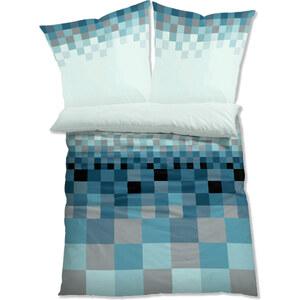bpc living Parure de lit Pixel, microfibres bleu maison - bonprix